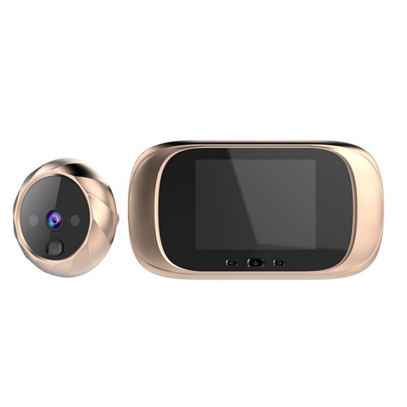 Digital Doorbell With 2.8inch Color Screen Night Vision Clear 0.3MP Camera Viewer Door Bell