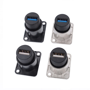 Image 2 - Metal USB 2.0 3.0 D type female to female connector panel mounting USB socket