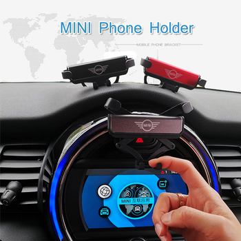 New design Mini Car holder GPS holder Quick Charge phone holder for Mini Cooper S JCW One F54 F55 F56 F60 phone stand car phone holder on steering wheel for bmw mini cooper f54 f55 f56 clubman countryman holder
