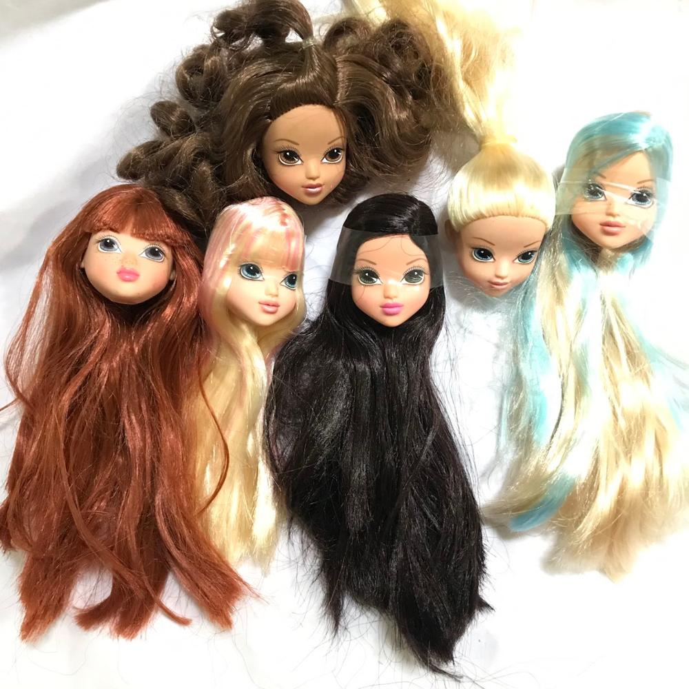 Excellent Quality Doll Head And Body With Colorized Hair DIY Accessories For Barbi Doll Baby DIY Toys New Style