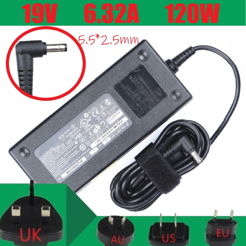 <font><b>19V</b></font> <font><b>6.32A</b></font> <font><b>120W</b></font> Universal Laptop Power Adapter Charger For <font><b>ASUS</b></font> ADP-120ZB BB N193V85 N75SL FX50J ZX50JX A550J Notebook adapter image