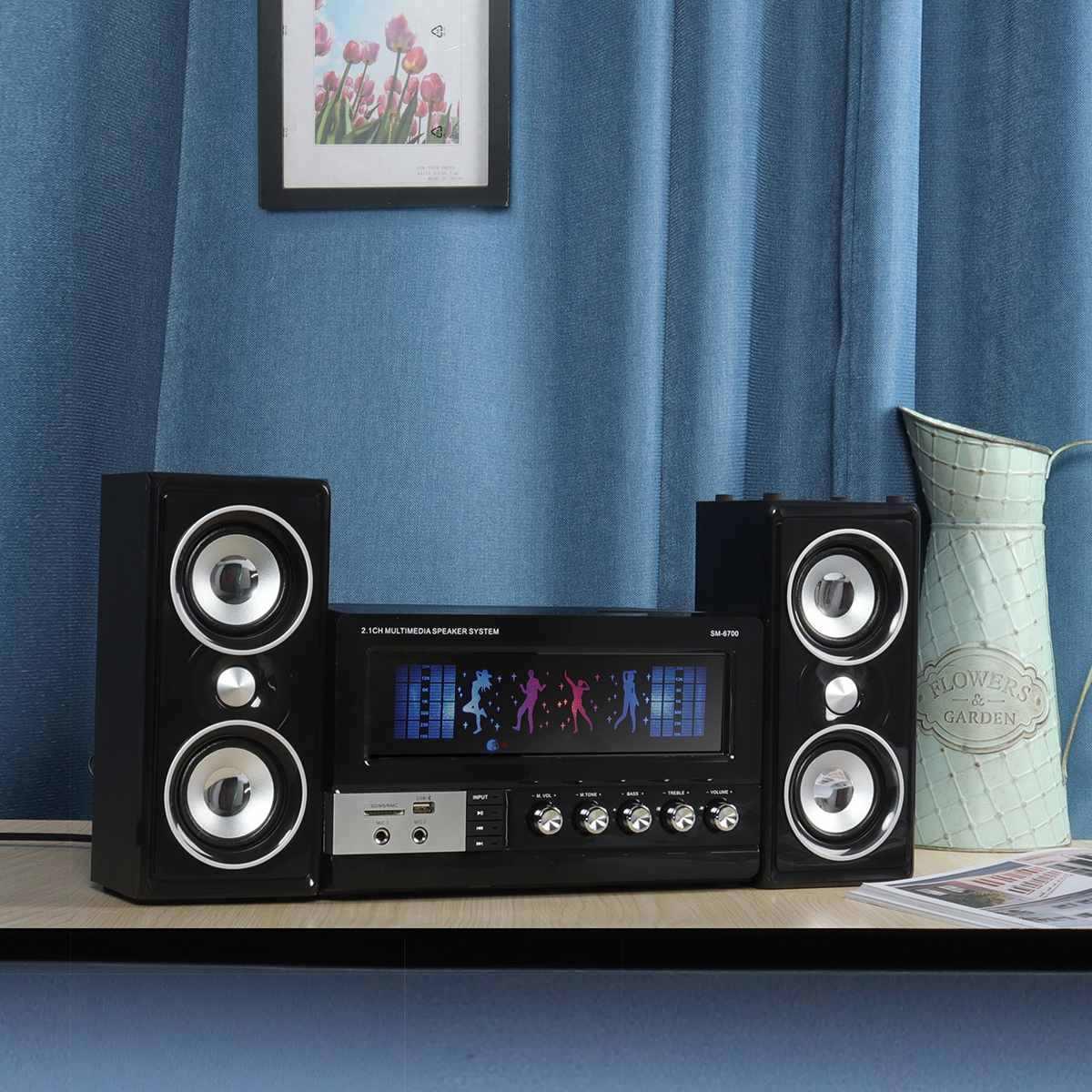 Bluetooth Karaoke Speakers Multimedia Subwoofer Bass Speakers