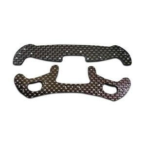 1 шт. 2 мм Головка ведущего Pteris, черная пластина из углеродного волокна, запасные части для шасси AR/MA tiiya mini 4WD RC, режим автомобиля