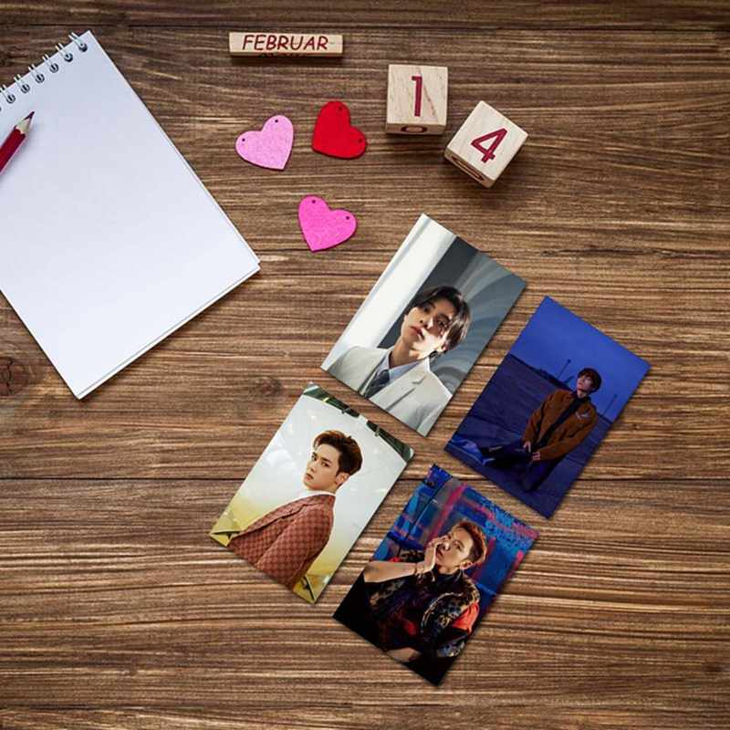 8 ピース/セット Kpop NCT WAYV 写真 Stikcy カード Winwin ルーカスクリスタルカードステッカーテンデビュー Photocard ステッカー