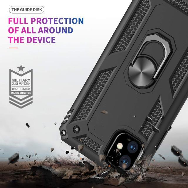 آيفون XR 11 برو X XS ماكس 6 6S 7 8 Plus ، الصف العسكري 15ft. إسقاط اختبار واقية مسنده حامل مغناطيسي للجوّال في السيّارة