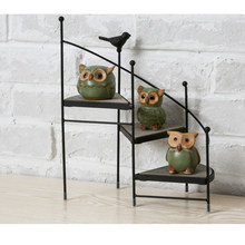 Iron Plant Stand Flower Pot Shelf Home Outdoor Decorative Plant Display Rack Succulent 3 Tier Layer Stair Garden Plant Stand(China)