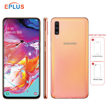 Купить Новый 6,7 дюймовый мобильный телефон samsung Galaxy A70 A7050 8 Гб 128 ГБ восьмиядерный смартфон Snapdragon 675 4500 мАч NFC 4G