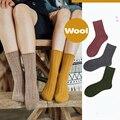 Женские однотонные шерстяные носки, удобные, теплые, мягкие, дышащие, модные, антибактериальные, антибактериальные, теплые носки для женщин,...