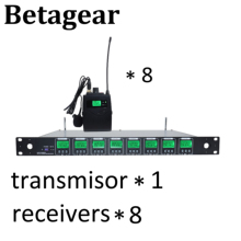 Betagear 8*32channel uhf wireless microphone professioanl audio wireless system performance dj audio 8 uhf receiver microphone