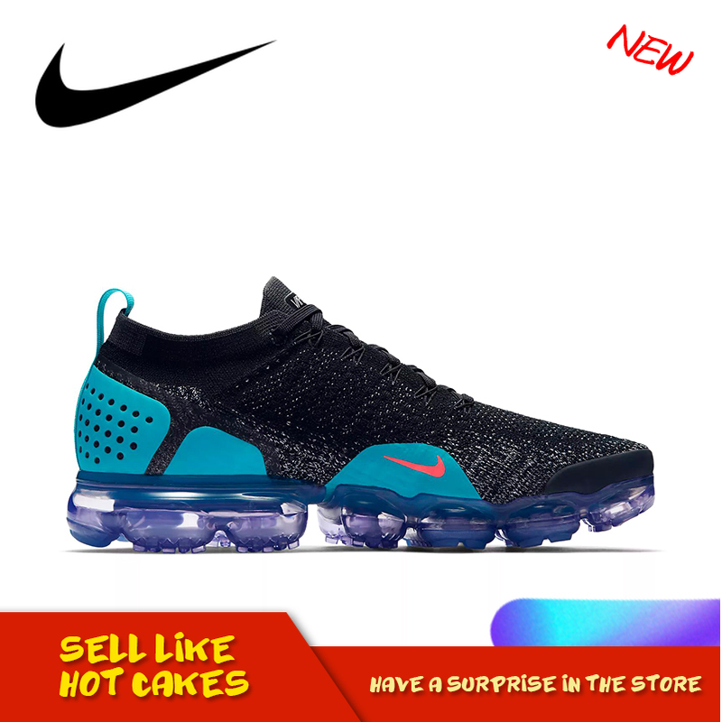 Original Authentic Nike Air VaporMax Flyknit 2.0 Men's Breathable Running Shoes Shockproof Athletic Designer Footwear 942842