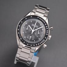 メンズ腕時計スポーツ24時間多機能トップブランドの高級フル鋼フルクロノグラフクオーツ時計男性レロジオmasculino