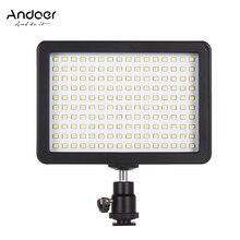 Andoer portátil 160 pçs led luz de vídeo lâmpada 5600k câmera painel iluminação 3 filtros para fotografia vídeo foto para canon nikon