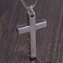S925 Стерлинговое Серебро минималистичный яркий крест кулон для женщин мужчин любовник чистое серебро Мода христианские ювелирные изделия ц...