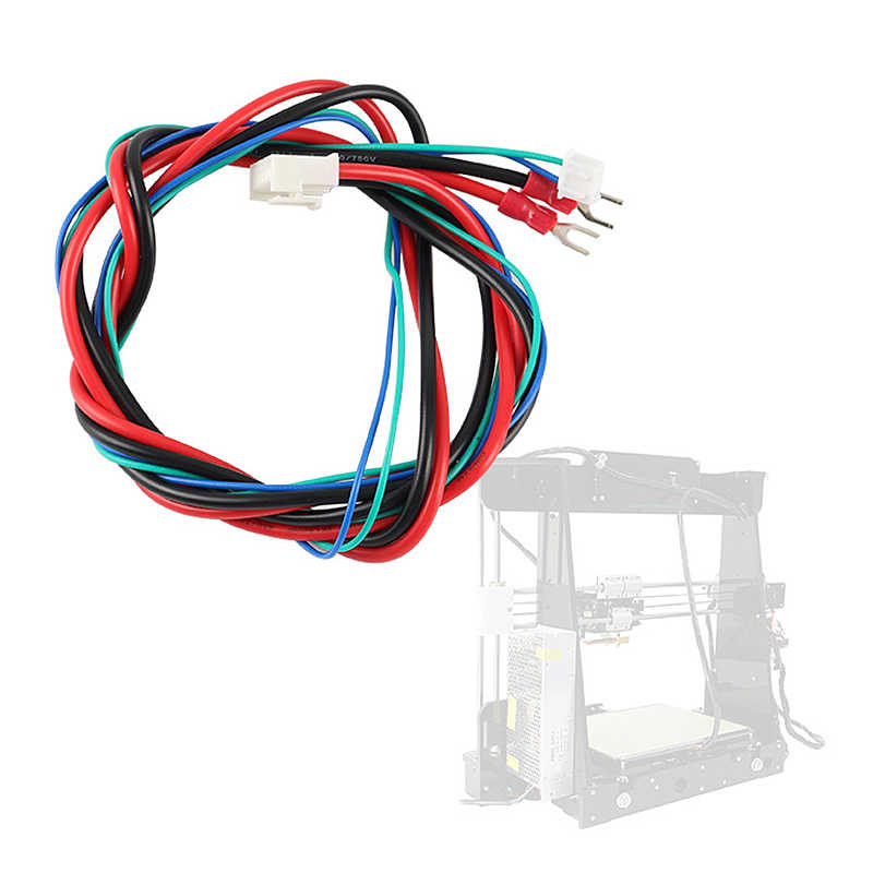Anet 交換 A6/A8 温床ベッドライン/ケーブルアップグレード MK2A/MK2B/MK3 メンデルの I3 Anet a8 3D プリンタ加熱されたベッドケーブル