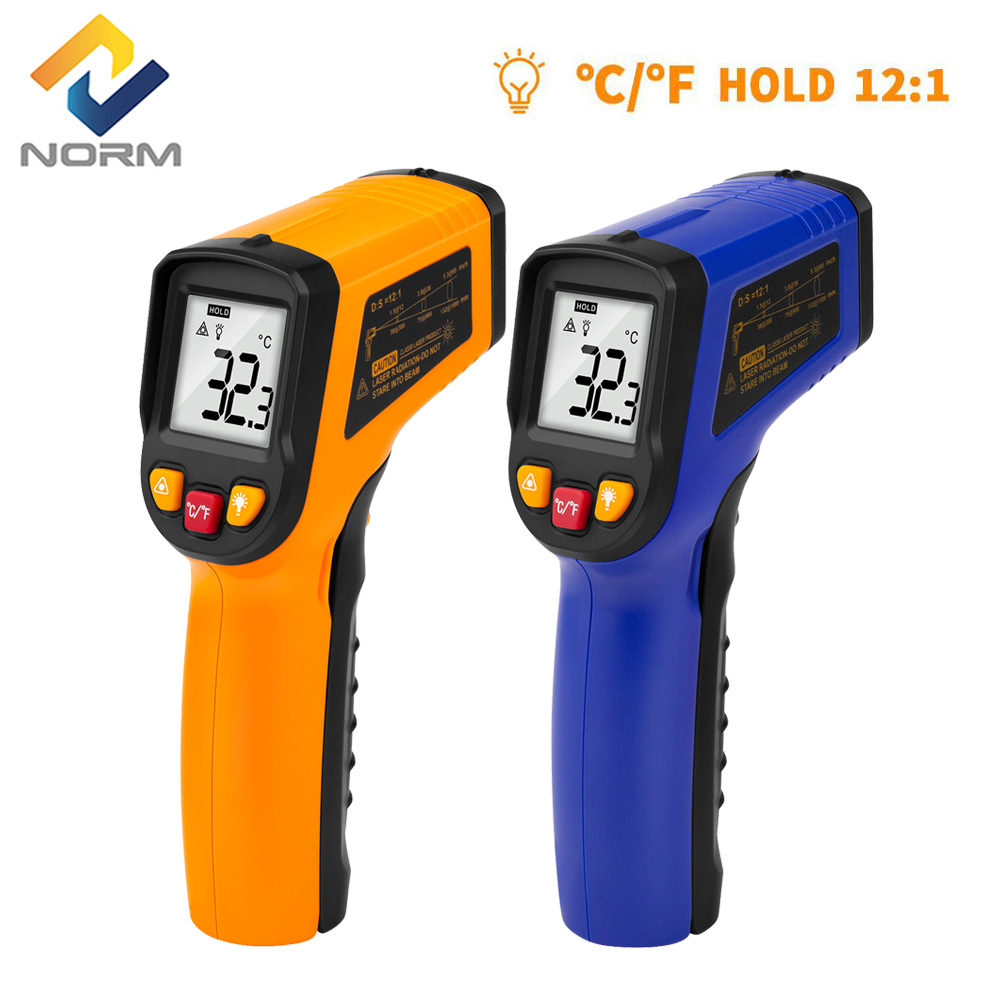 Digital Laser Infrared Thermometer Non-Contact Temperature Meter LCD Pyrometer IR Termometro Tool with C/F Unit Free Shipping