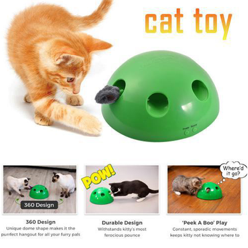 2019 Cat Scratching Device Cat Scratcher Interactive ToyCat Interactive Electric Mouse Feather Toys Funny POP N PLAY Cat Pet Toy