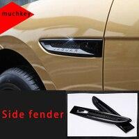 ل جاكوار f بيس الجانب الحاجز الأسود صب الكسوة 2 قطعة-في تصميم كروم من السيارات والدراجات النارية على