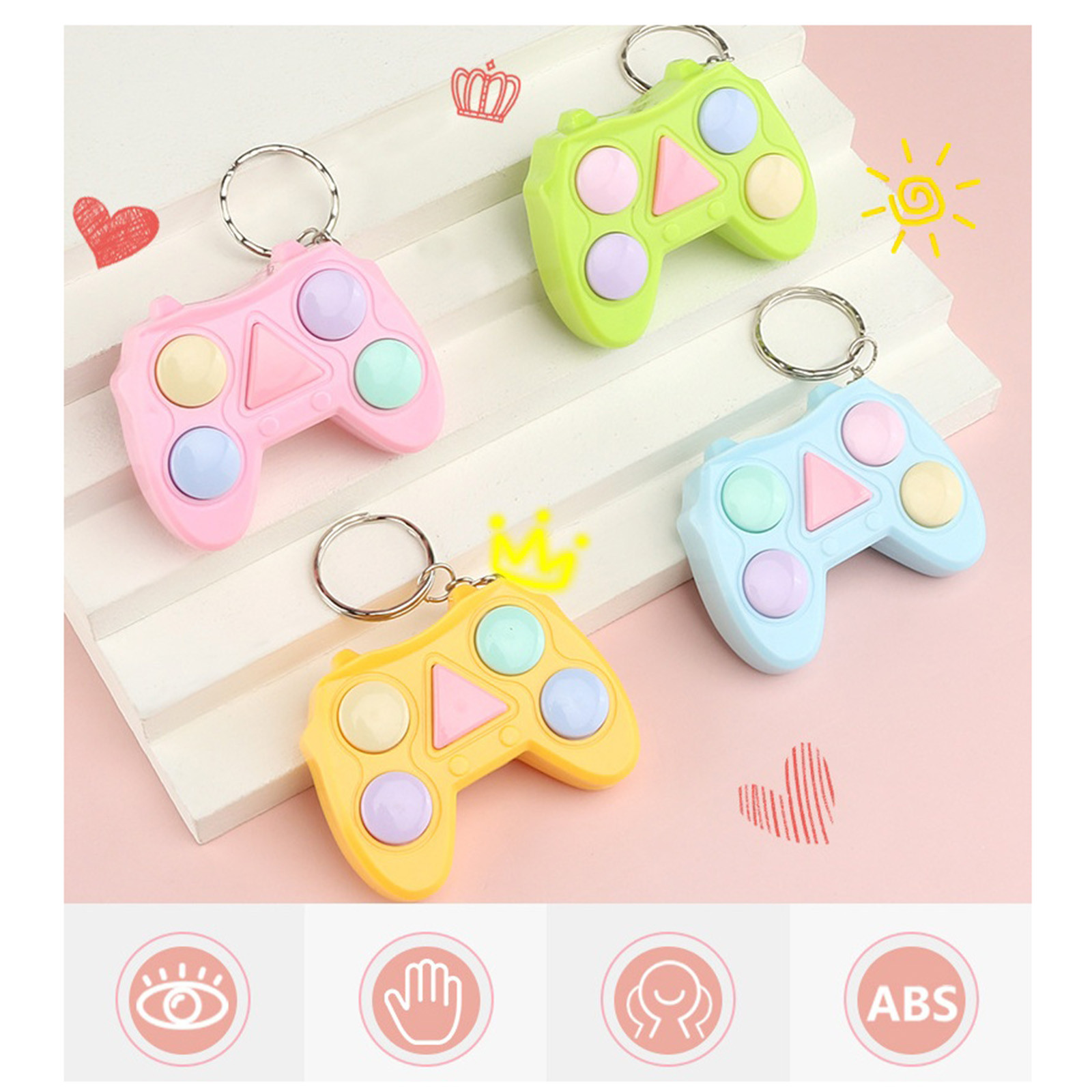 Stress Relief Fidget-Toy-Pack Memory Color-Game-Machine Keychain Gadget Mini-Handle Training img3