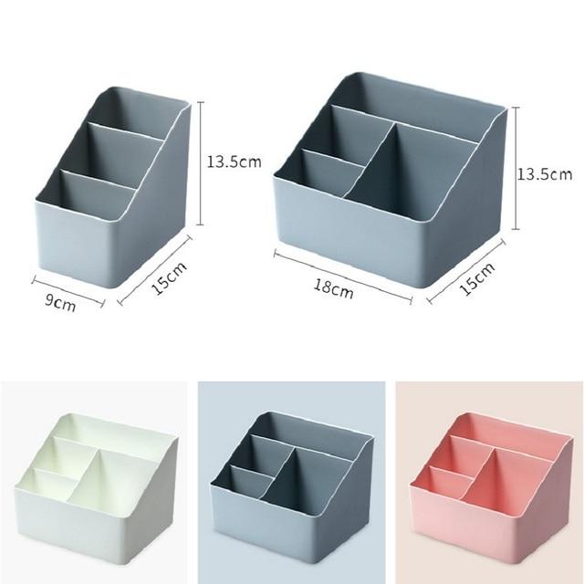 WBBOOMING Plastic Desktop Sundries Storage Makeup Organizer Cosmetic Makeup Brush Storage Case Home Office Bathroom Storage Box 6