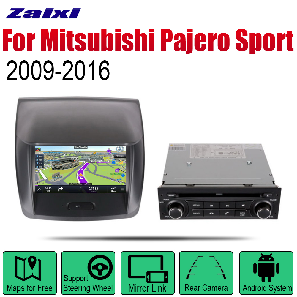 For Mitsubishi Pajero Sport Montero Sport 2009 2010 2011 2012 2013 2014 2015 2016 Car Android Multimedia System Screen WIFI DVD image