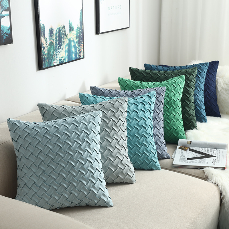Nordic Style Pillowcase Hand-woven Cushion Sleeve Fashion Design Solid Color Cushion Cover