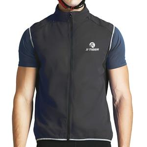 Image 2 - X TIGER Windproof Cycling Vest Rainproof Sleeveless Reflective Safety Vest MTB Bike Jacket Outdoor Sport Quick Dry Rain Jacket