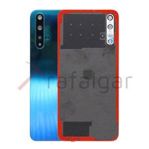 Image 3 - Оригинальная задняя крышка батарейного отсека для Huawei Nova 5T, задняя крышка корпуса, задняя панель + объектив камеры для Huawei Nova 5T, Крышка батарейного отсека