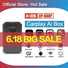 Carplay Ai Box Android Box Автомобильный мультимедийный плеер Новая версия 4 + 32G беспроводная зеркальная ссылка для Apple Carplay Android Автомобильная ТВ-прист...