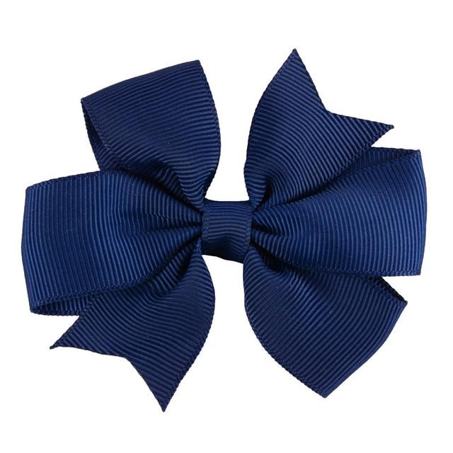 Fashion 10pcs/lot Grosgrain Ribbon Hair Bow with Clips Baby Girls Bow Hair Clip Hairpins Children Photo Props Hair Accessories