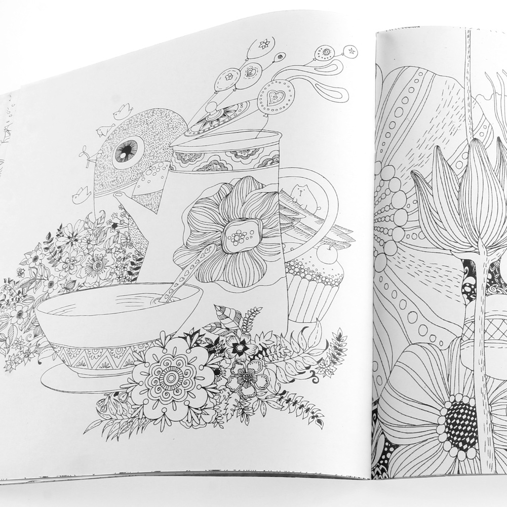 25*25CM Fairy Tales And Magical Dreams Children Adult Graffiti Coloring Book LX9A