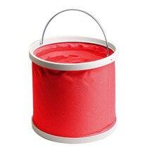 9L folding bucket Car wash bucket Outdoor fishing car wash telescopic bucket tool  Protect the car paint