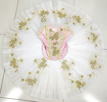 Sleeping Beauty Variation Costumes girls White Pink child Kid Girls Ballet Tutu Professional Performance Pancake