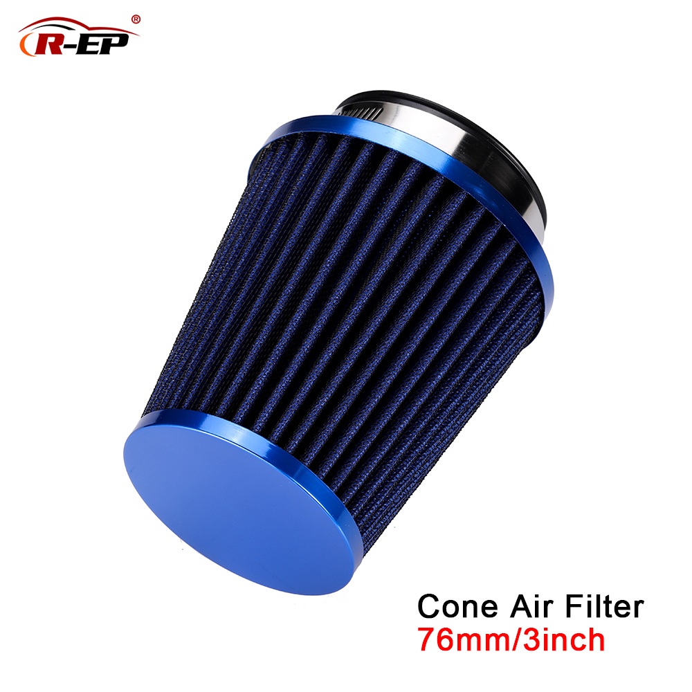 R-EP Universal Car Air Filter 3inch Cold Air INTAKE Supercharger For 76mm Intake Hose Kit Filtro De Ar Esportivo