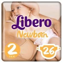 Подгузники Libero Newborn, для новорожденных, 2(3-6 кг), 26 шт