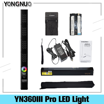 Yongnuo YN360III Pro ręczny kij światło LED do kamery dotykowy regulacja bi-colo 3200k do 5500k RGB wypełnienie oświetlenie z pilotem przez APP tanie i dobre opinie FotoPal Other 3200K-5500K
