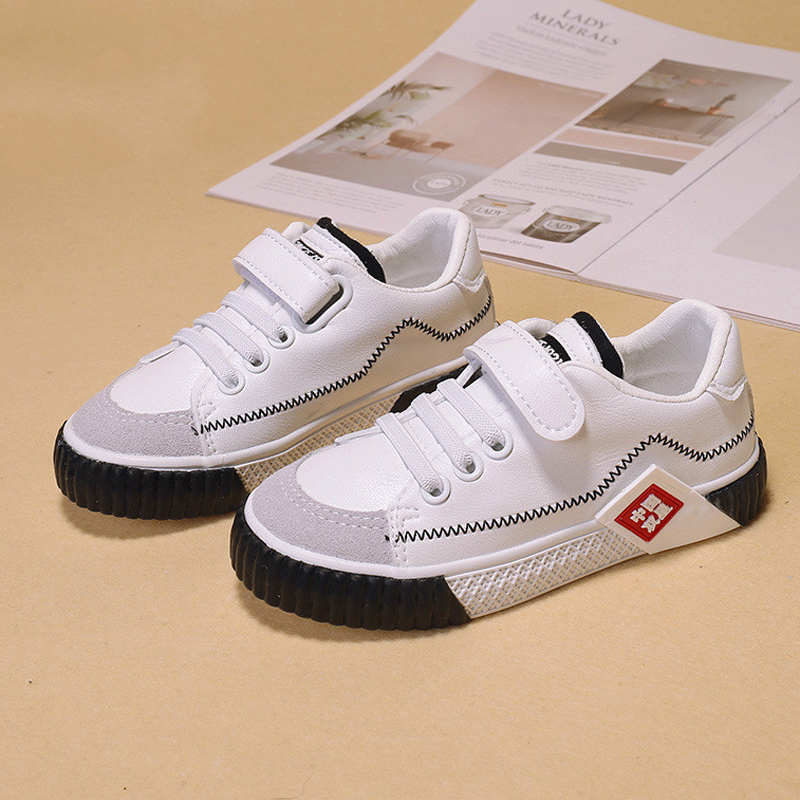 Babaya Children Casual Shoes Boys White Shoes Kids Shoes For Girls Artificial Leather 2019 Spring Autumn New Fashion Sneakers