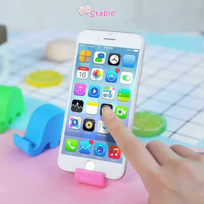 Mini Elephant Phone Desktop Stand Table Phone Support Holder Universal Plastic Mobile Phone Holder for Xiaomi Huawei for iPhone