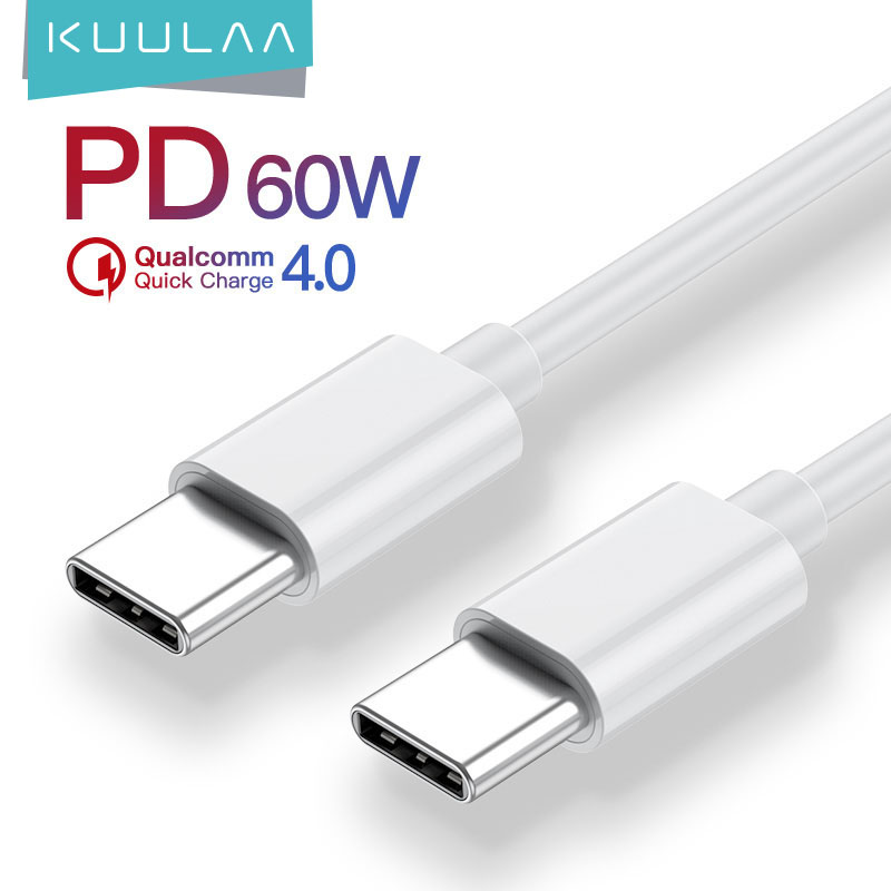 KUULAA USB Type C to USB Type C Cable For Samsung Galaxy S10 S9 60W PD QC 4.0 Quick Charge USB C Cable For Xiaomi Redmi Note 7|Mobile Phone Cables| - AliExpress