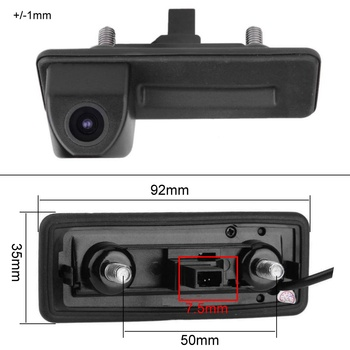 For Skoda Roomster Fabia Yeti Superb Octavia Trunk Handle Car Rear View Camera reverse Backup Parking Camera Night Vision HD