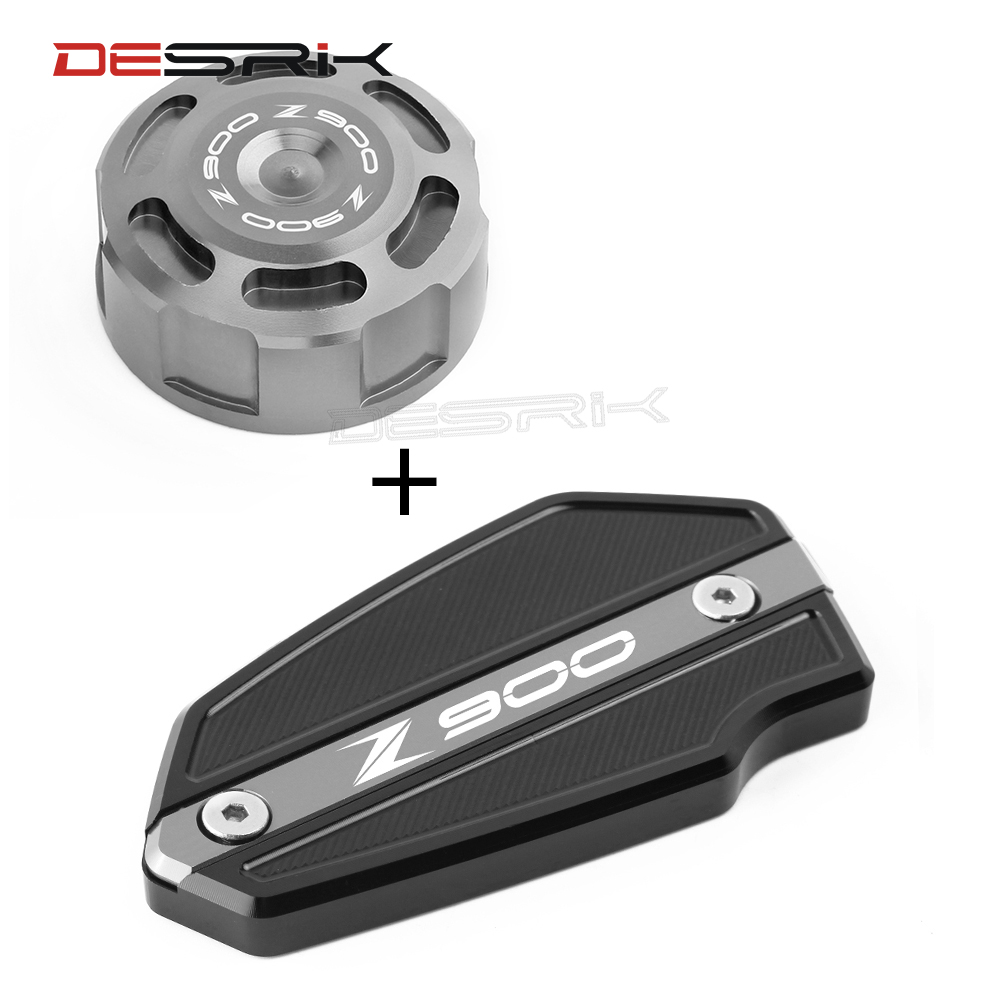 Picks Items Motorcycle Front & Rear Fluid Reservoir Cover Cylinder Reservoir Brake Cap For <font><b>Kawasaki</b></font> Z900 <font><b>Z</b></font> <font><b>900</b></font> <font><b>2017</b></font> 2018 2019 image