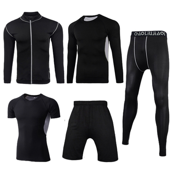 Men Sportswear Compression Sport Suits Quick Dry Running Sets Clothes Sports Joggers Training Gym Fitness Tracksuits Running Set 24