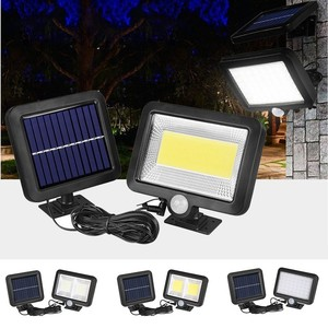Солнечная лампа на открытом воздухе 120LED датчик движения садовый светильник безопасность Наводнение уличный светильник Солнечная наружная...