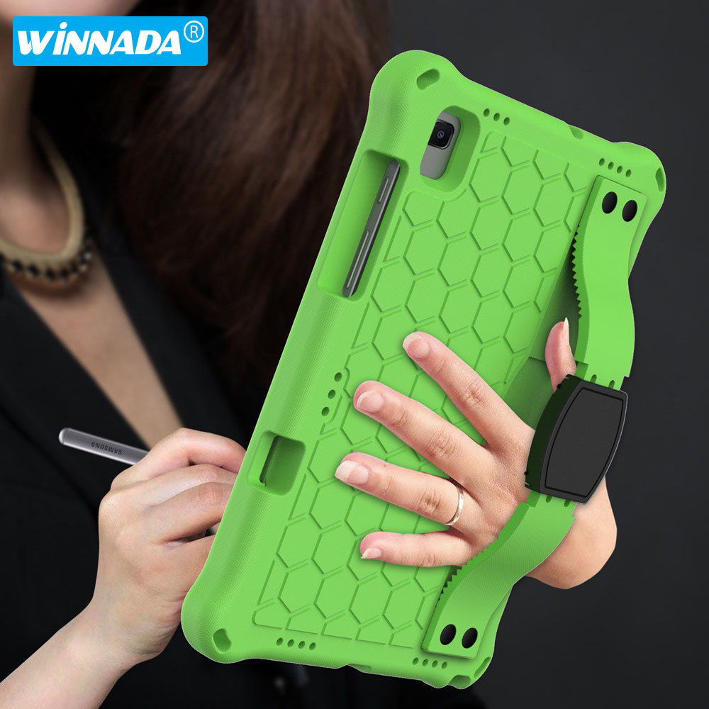 For Samsung Galaxy Tab A7 10.4 2020 with strap EVA materials tablet cover for Galaxy Tab S5e S6 Kids case for SM-T500 T720 T860-0