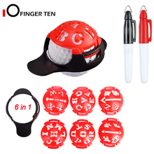 Marker Golf-Ball Liner with Drawing-Template Alignment-Putting-Tool 6-In-1