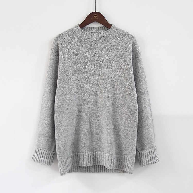 캐주얼 스웨터 여성 2019 풀오버 가을과 겨울 거리 패션 모헤어 느슨한 뜨거운 겨울 의류 여성 vestidos MMY76067