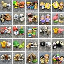 Fisher pouco mini pessoas figura de ação bonecas zoológico animal santa boneco de neve dos desenhos animados figura brinquedos criança presente natal