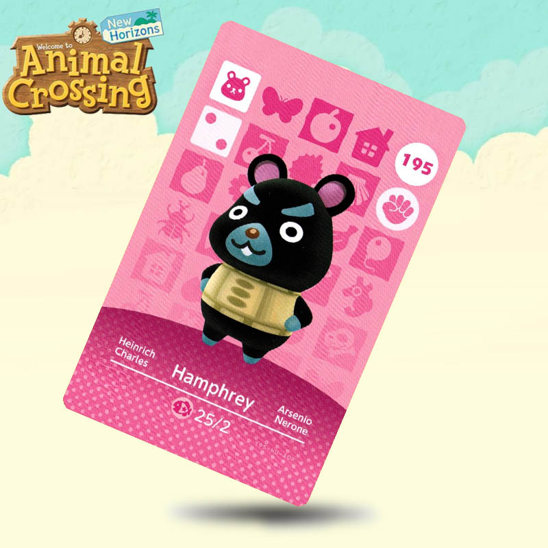 195 Hamphrey Animal Crossing Card Amiibo Cards Work For Switch NS 3DS Games