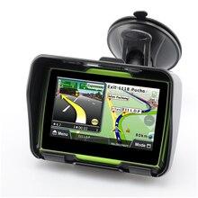 Обновленный 256M ram 8GB Flash 4,3 дюймов сенсорный экран двигатель gps навигатор Водонепроницаемый Bluetooth мотоцикл gps автомобильная навигация