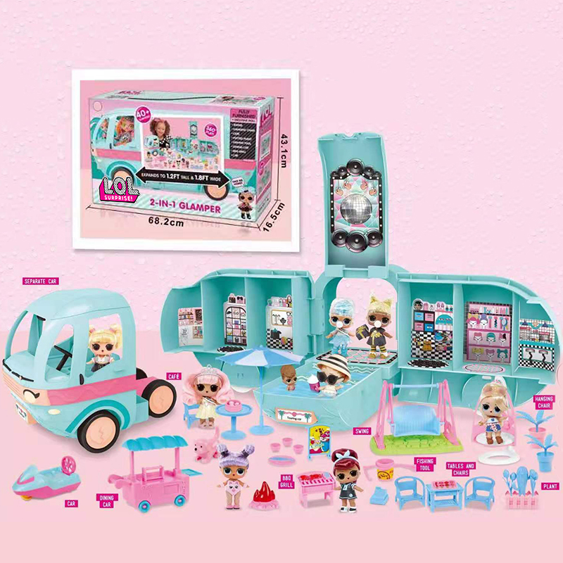 Original LOL Surprise Dolls 2-in-1 GLAMPER Toys Girls Lols Dolls GITTER FACTORY DIY Play House Toys For Girl's Birthday Gifts