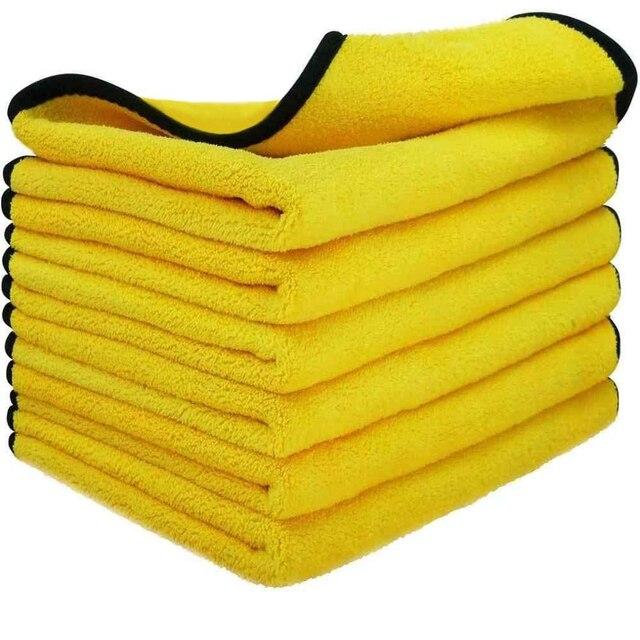 3/5/10 Pcs Microfiber Handdoeken Voor Auto S Auto Drogen Wassen Detaillering Buffing Polijsten Handdoek Met Pluche Edgeless Microfiber Doek